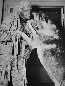 Lon chaney jr and his dog moose